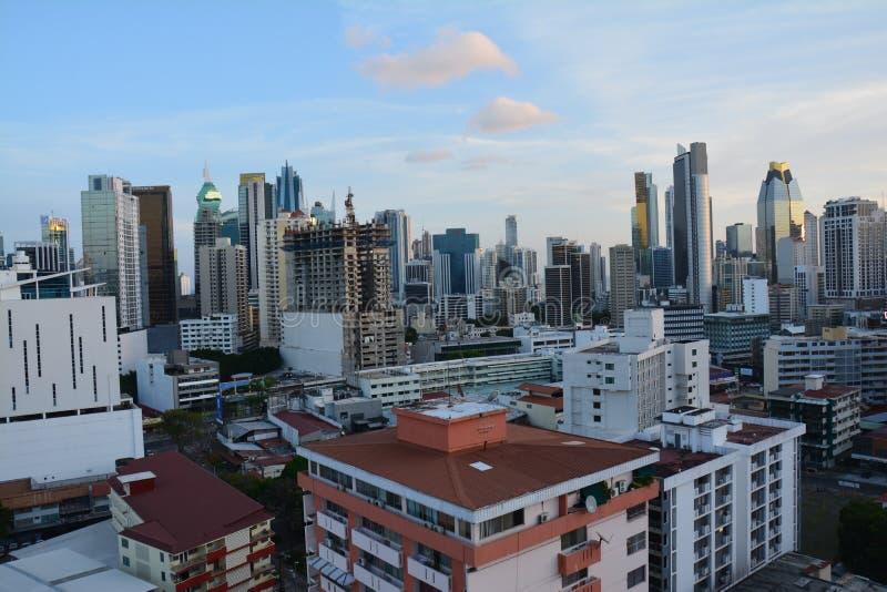Orizzonte di Panamá nel Panama al tramonto immagini stock libere da diritti
