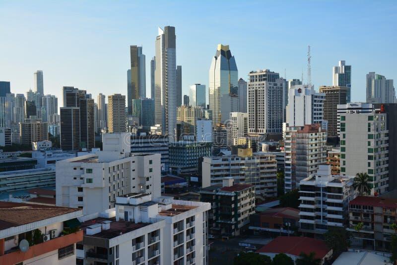 Orizzonte di Panamá nel Panama al tramonto fotografie stock libere da diritti
