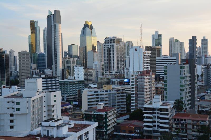 Orizzonte di Panamá nel Panama al tramonto immagine stock