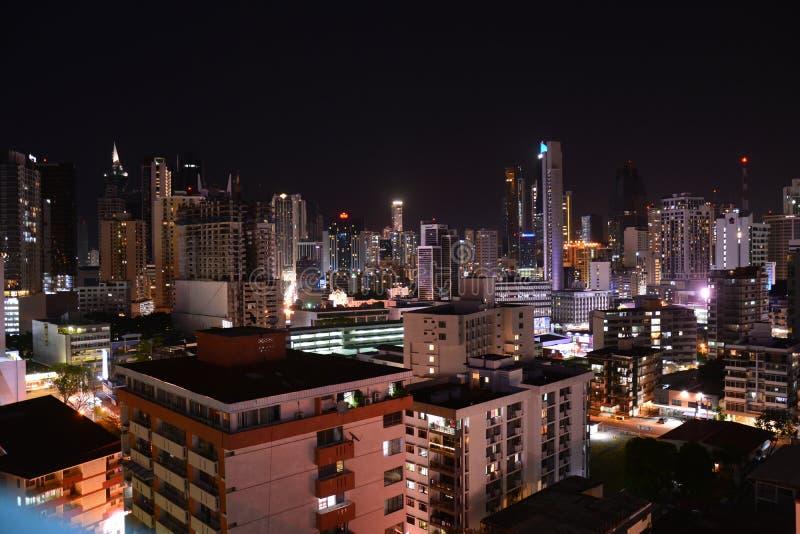 Orizzonte di Panamá nel Panama alla notte fotografie stock