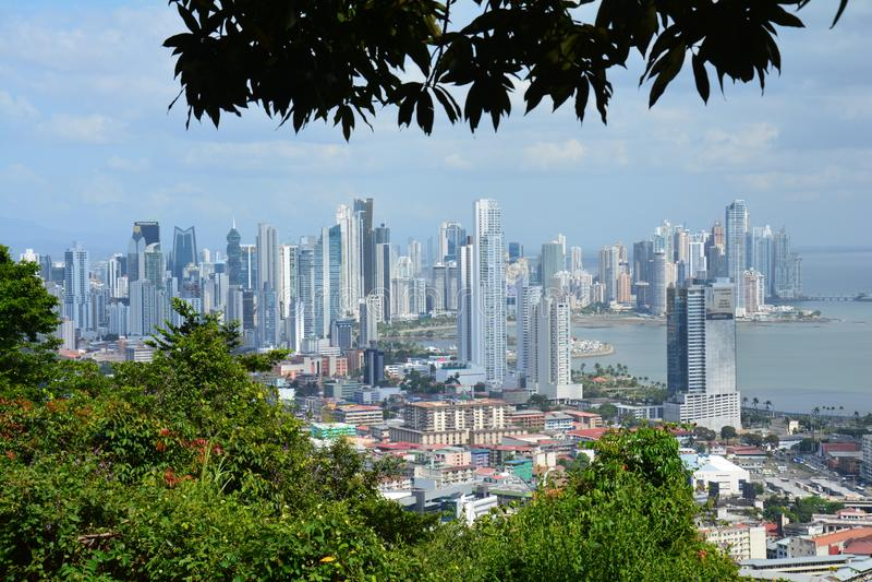 Orizzonte di Panamá di panorama nel Panama fotografie stock libere da diritti