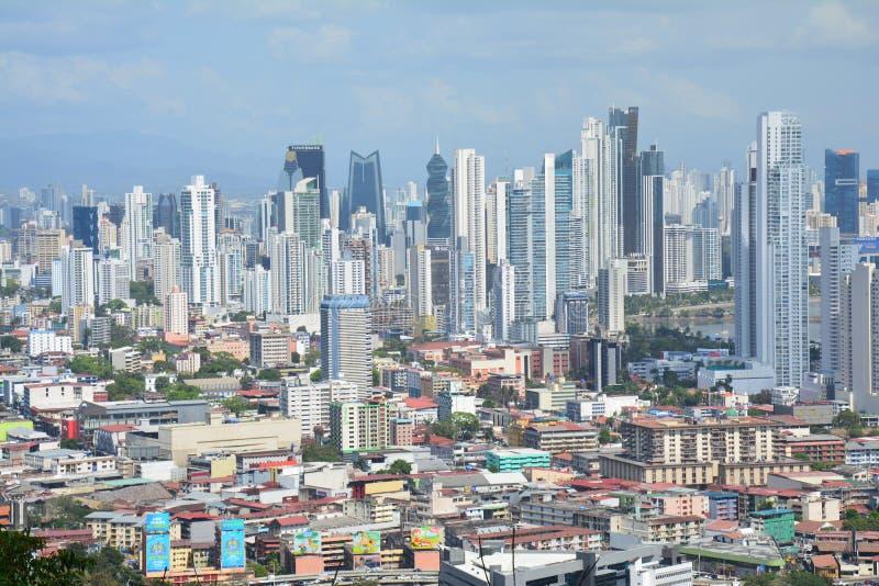 Orizzonte di Panamá di panorama nel Panama fotografia stock