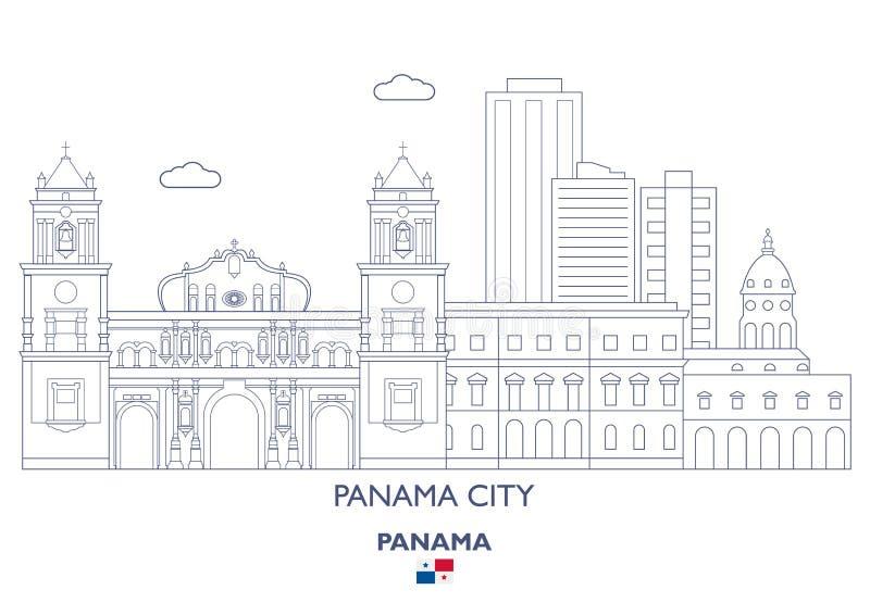 Orizzonte di Panama City, Panama illustrazione vettoriale