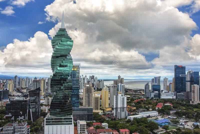 Orizzonte di Panama City - orizzonte moderno della città - panorama della costruzione del grattacielo - immagini stock