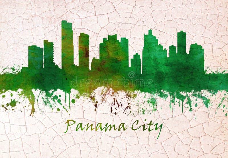 Orizzonte di Panama City royalty illustrazione gratis