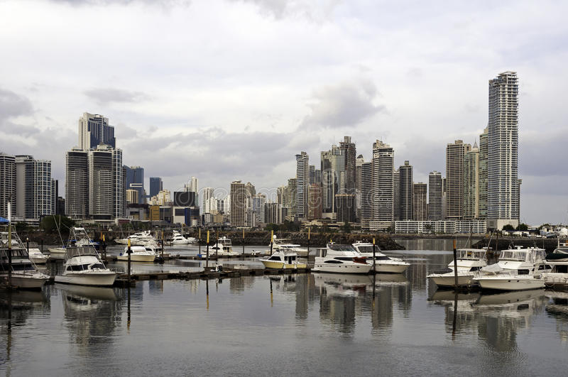 Orizzonte di Panama City, Panama immagine stock