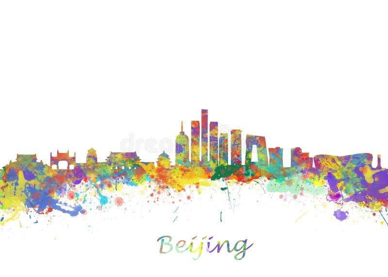 Orizzonte di Pechino Cina illustrazione vettoriale