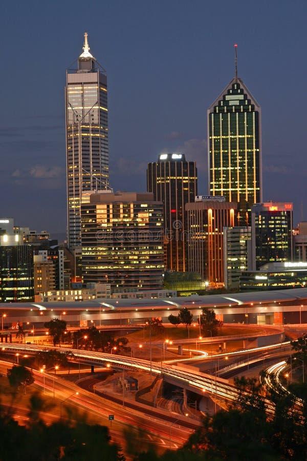 Orizzonte di Perth fotografia stock