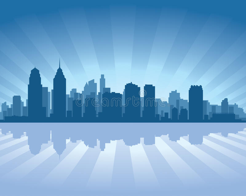 Orizzonte di Philadelphia illustrazione di stock