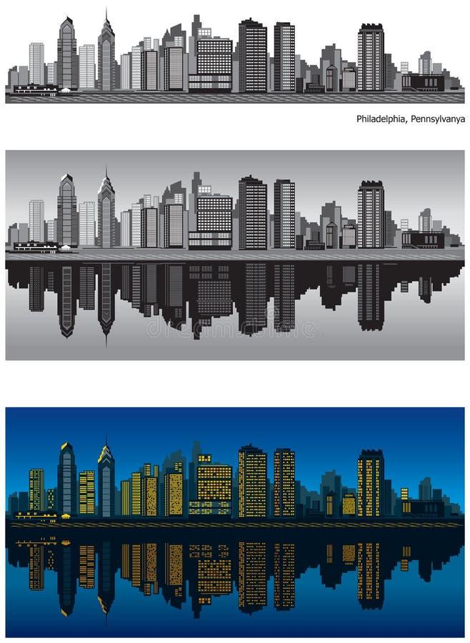Orizzonte di Philadelphia Pensilvania illustrazione di stock