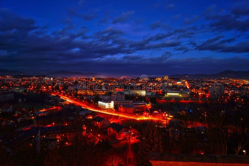 Orizzonte di Presov, Slovacchia fotografia stock libera da diritti