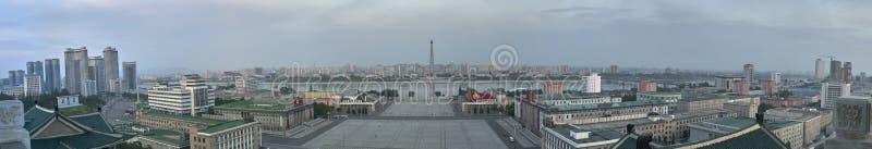 Orizzonte di Pyongyang, capitale della Corea del Nord fotografie stock