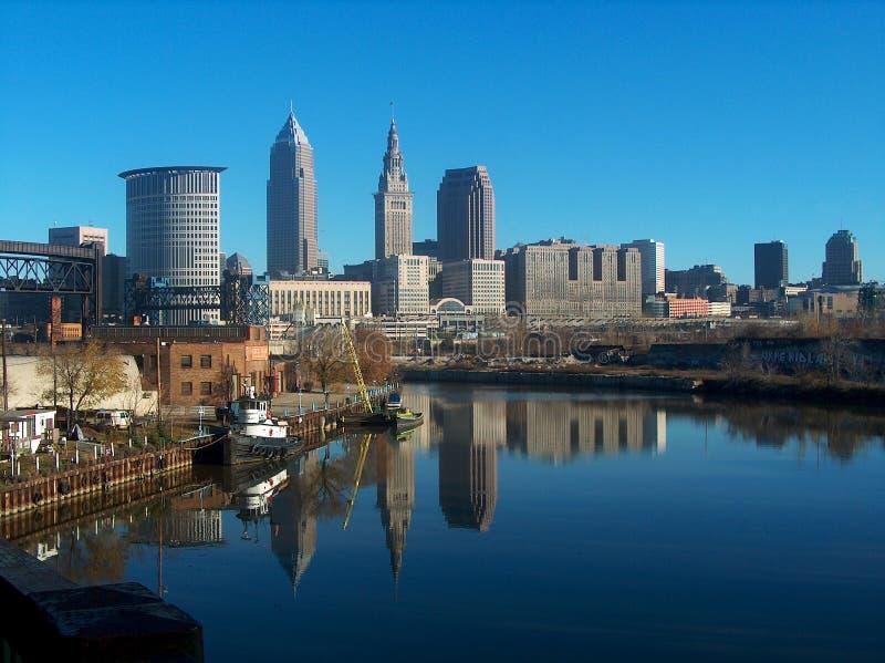 Orizzonte di riflessione di Cleveland immagine stock