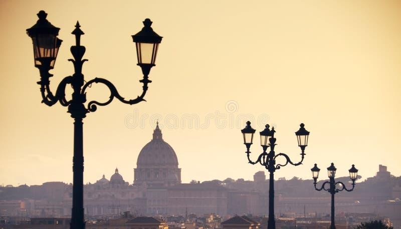 Orizzonte di Roma fotografia stock