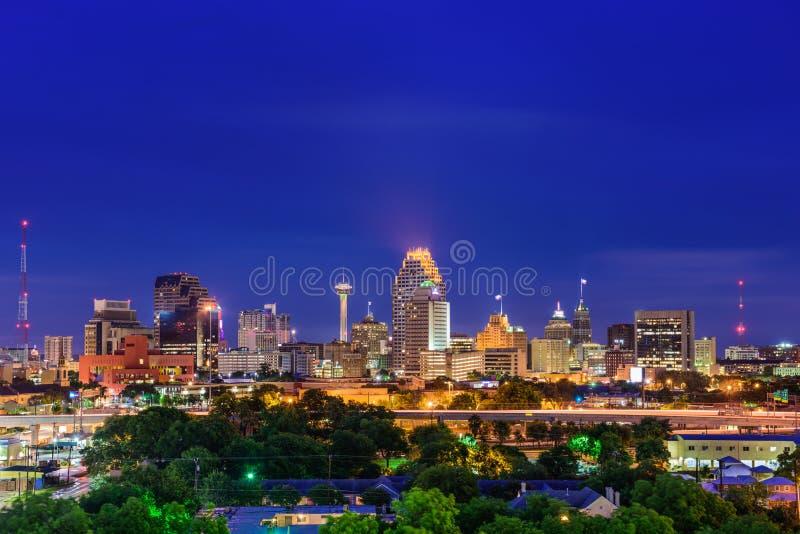 Orizzonte di San Antonio il Texas immagini stock libere da diritti