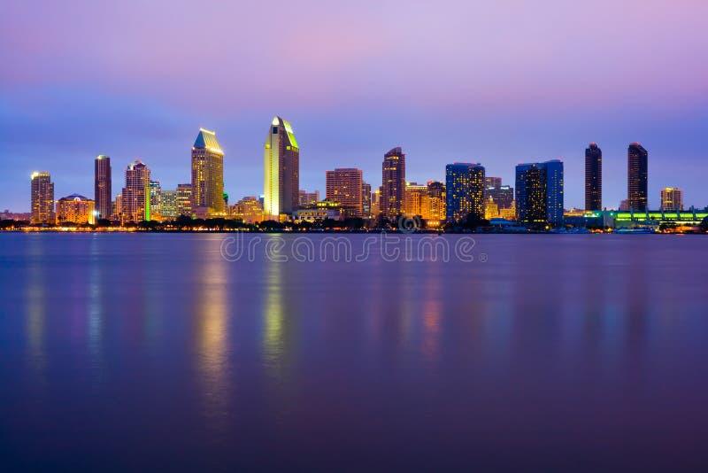 Orizzonte di San Diego fotografie stock libere da diritti