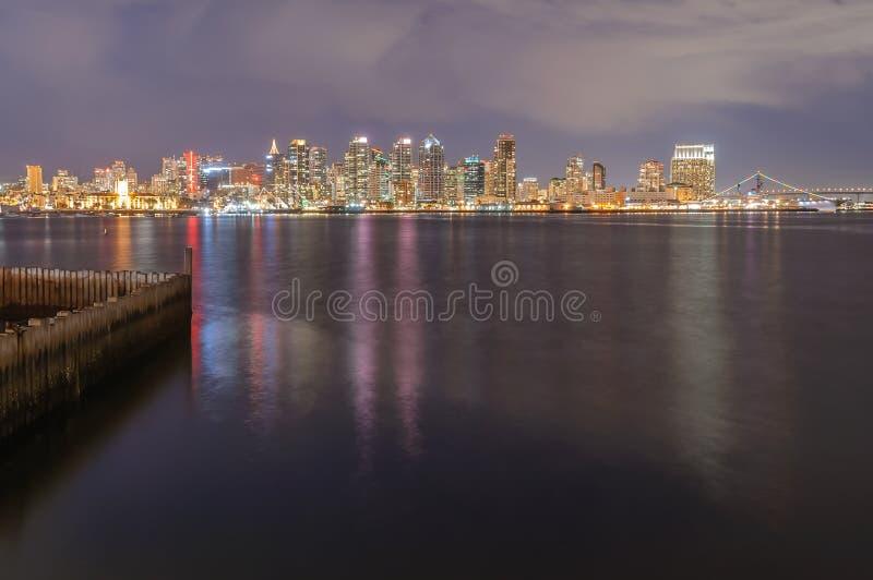 Orizzonte di San Diego al crepuscolo immagini stock