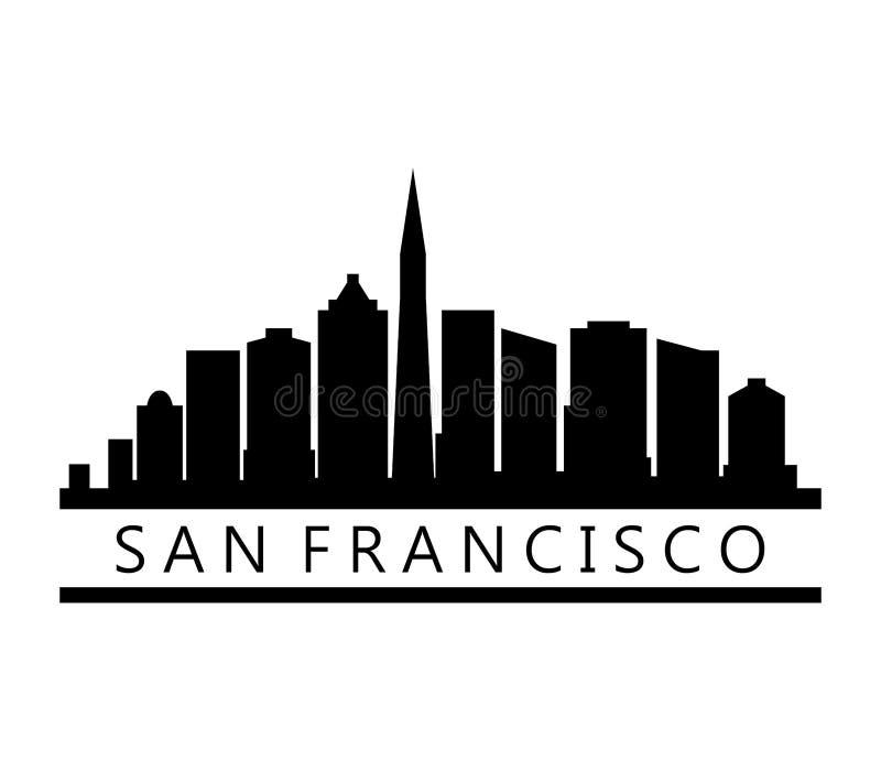 Orizzonte di San Francisco illustrazione di stock