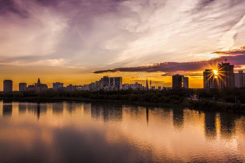 Orizzonte di Saskatoon fotografia stock libera da diritti