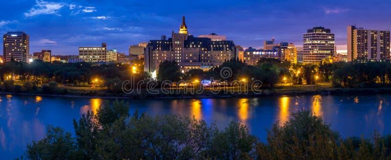 Orizzonte di Saskatoon fotografie stock libere da diritti