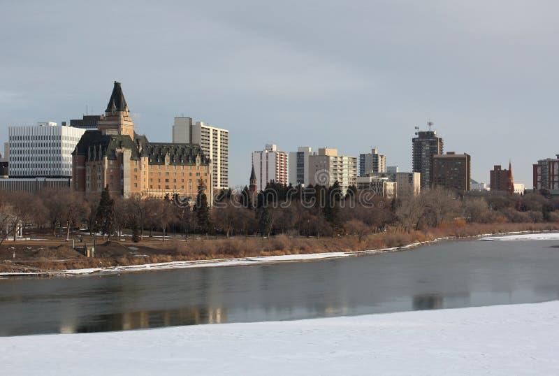 Orizzonte di Saskatoon, Saskatchewan fotografia stock