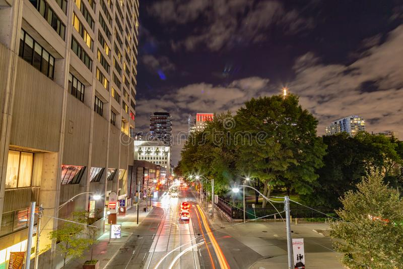 Orizzonte di scena di notte di Toronto Ontario Canada immagine stock libera da diritti