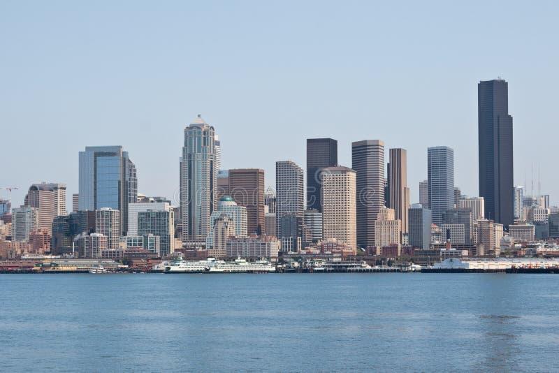 Orizzonte di Seattle fotografie stock libere da diritti