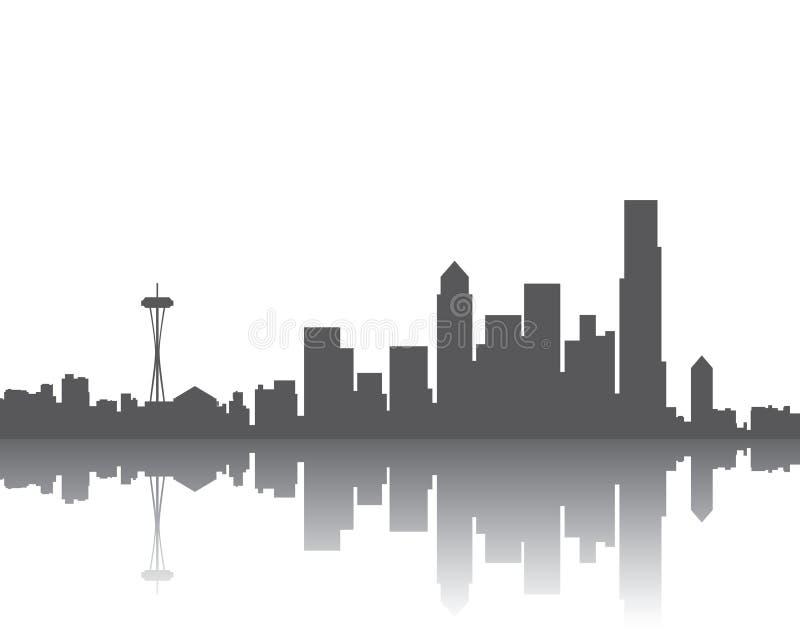 Orizzonte di Seattle illustrazione vettoriale