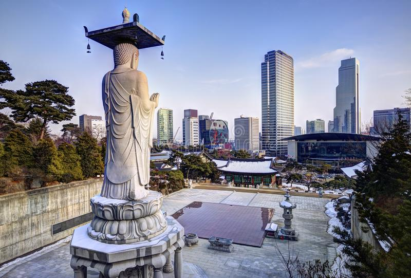 Orizzonte di Seoul fotografie stock libere da diritti