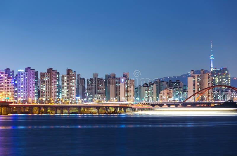 Orizzonte di Seoul immagine stock libera da diritti