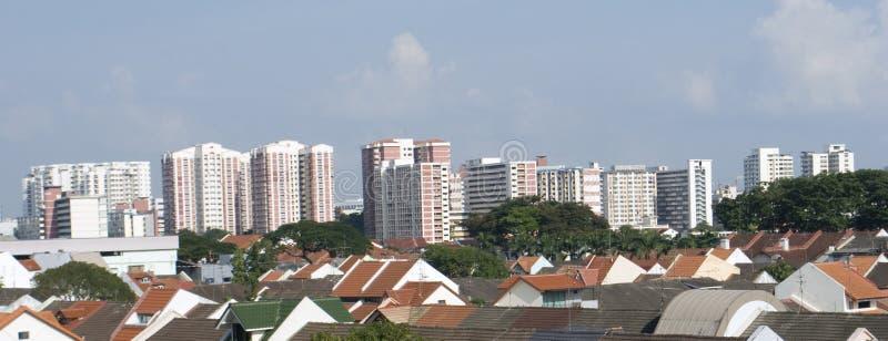 Orizzonte di Singapore di zona residenziale fotografia stock libera da diritti