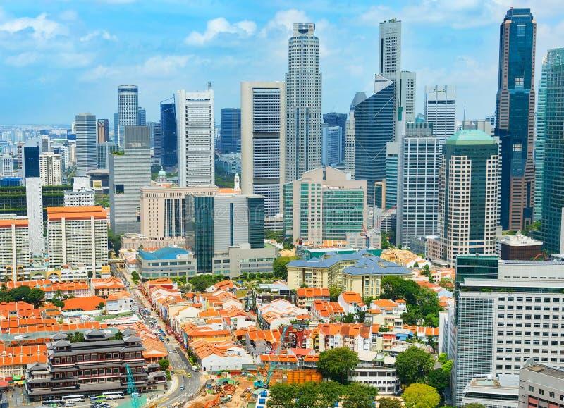 Orizzonte di Singapore Downotwn fotografie stock