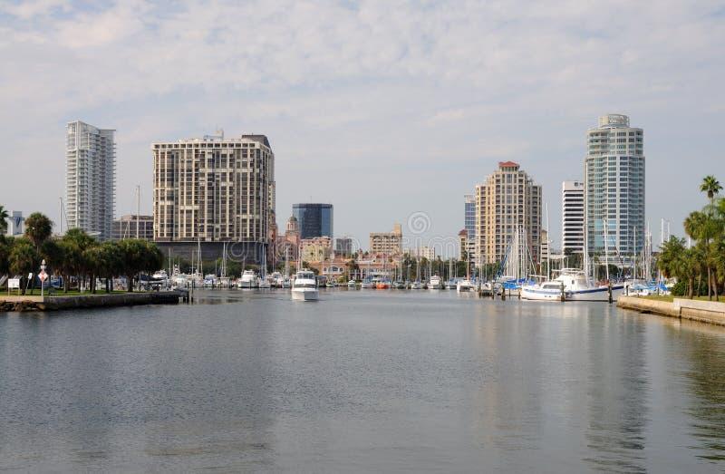 Orizzonte di St Petersburg, Florida immagini stock libere da diritti
