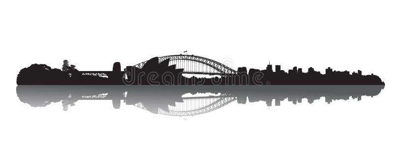 Orizzonte di Sydney: Opera e porto illustrazione vettoriale