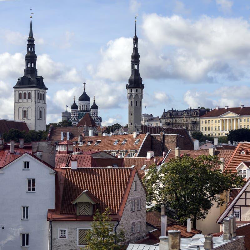Orizzonte di Tallinn - Estonia fotografia stock libera da diritti