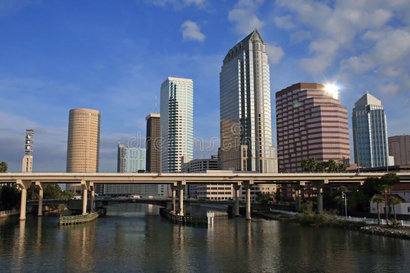 Orizzonte di Tampa fotografie stock libere da diritti