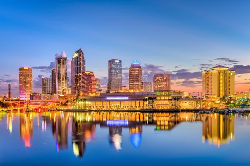 Orizzonte di Tampa Florida fotografia stock