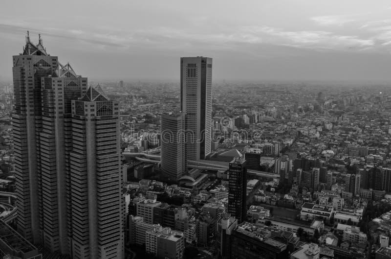 Orizzonte di Tokyo fotografia stock