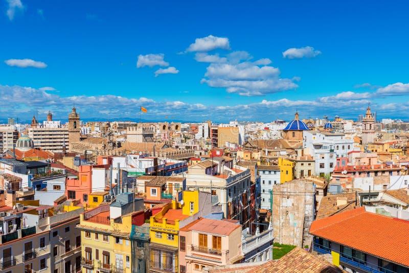 Orizzonte di Valencia Spain fotografia stock