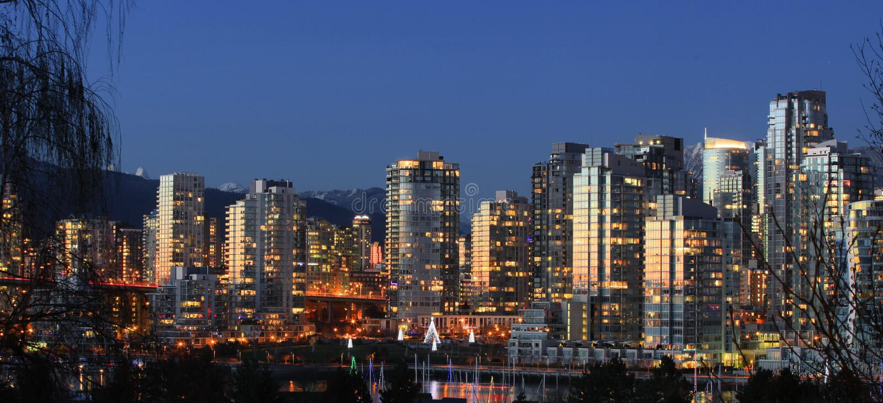 Orizzonte di Vancouver Yaletown immagine stock libera da diritti