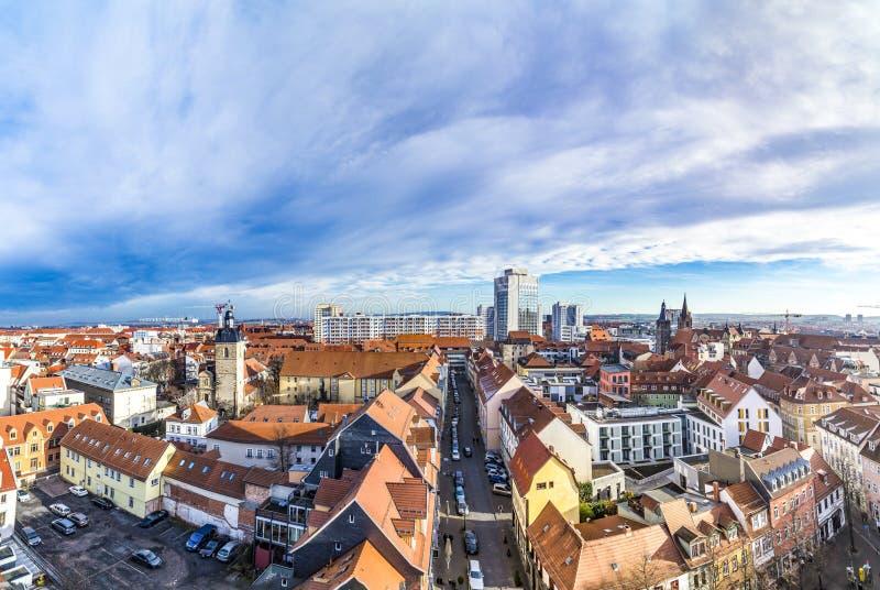 Orizzonte di vecchia città di Erfurt, Germania fotografie stock libere da diritti