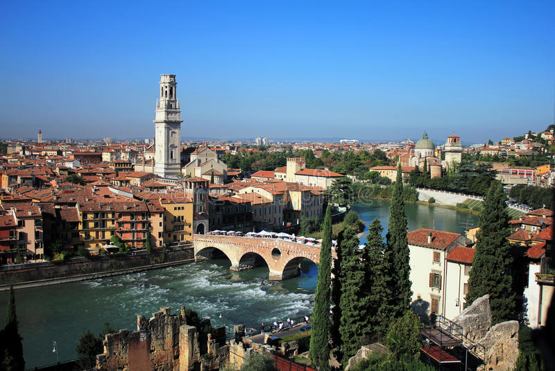 Orizzonte di Verona, Italia fotografia stock
