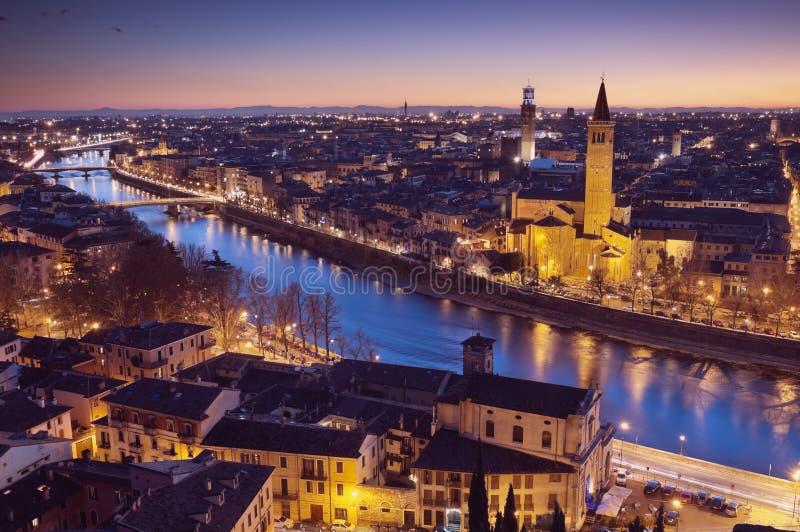 Orizzonte di Verona, Italia fotografia stock libera da diritti