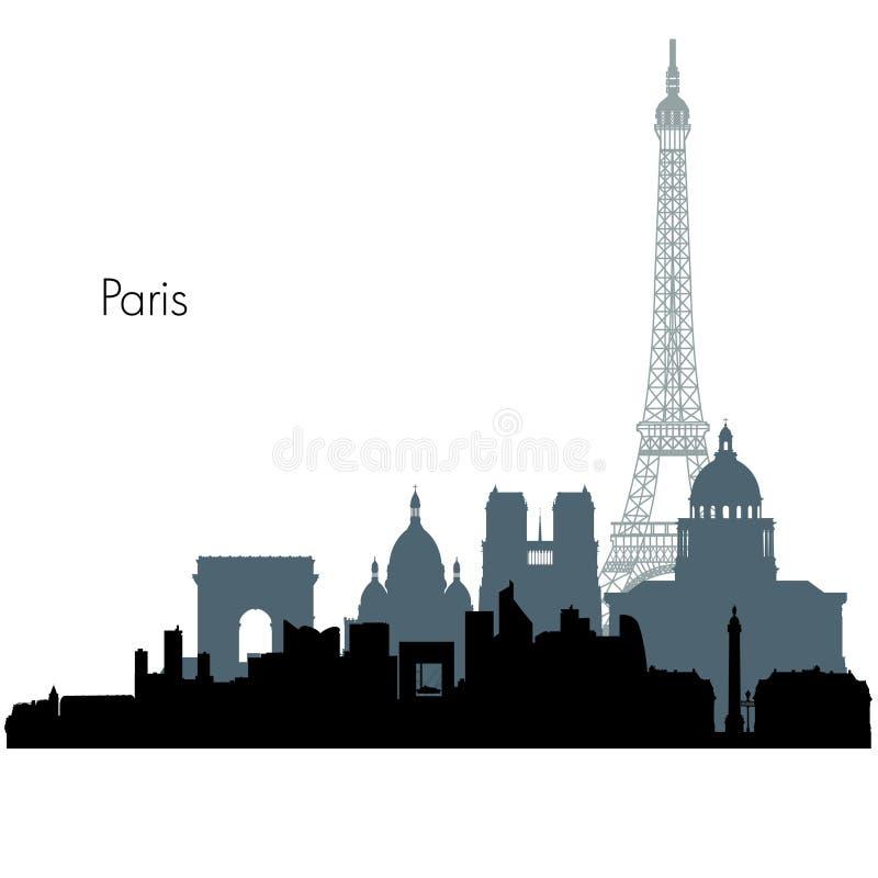 Orizzonte di vettore di Parigi royalty illustrazione gratis