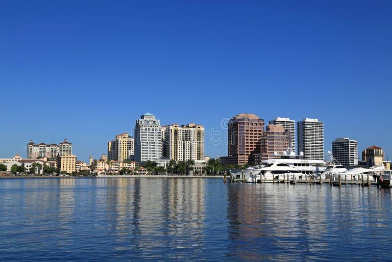 Orizzonte di West Palm Beach fotografia stock