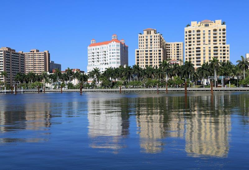 Orizzonte di West Palm Beach fotografie stock libere da diritti