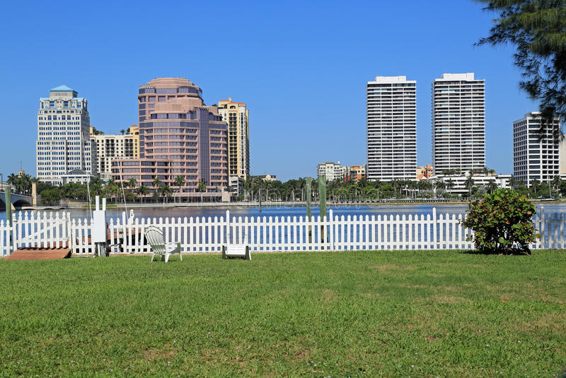 Orizzonte di West Palm Beach fotografia stock libera da diritti