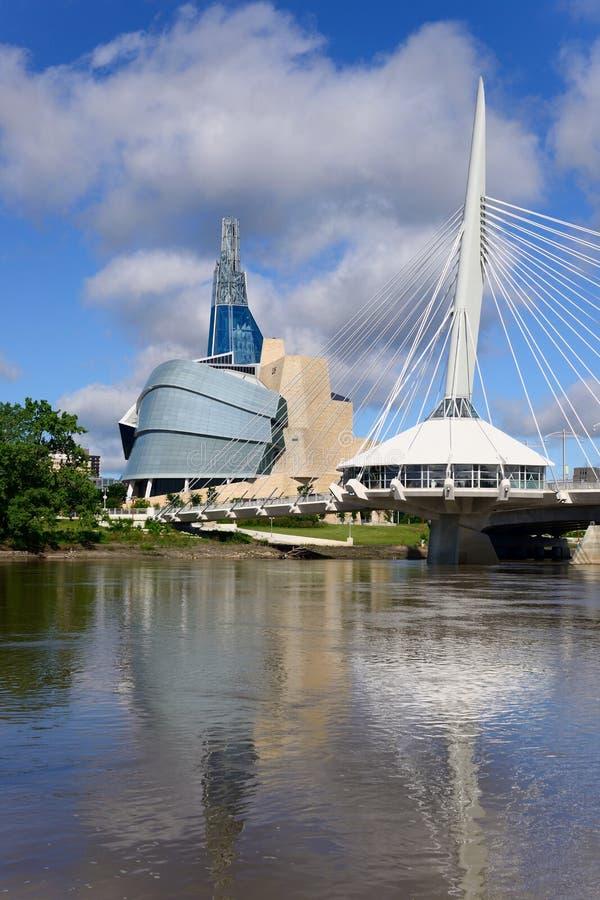 Orizzonte di Winnipeg immagine stock libera da diritti