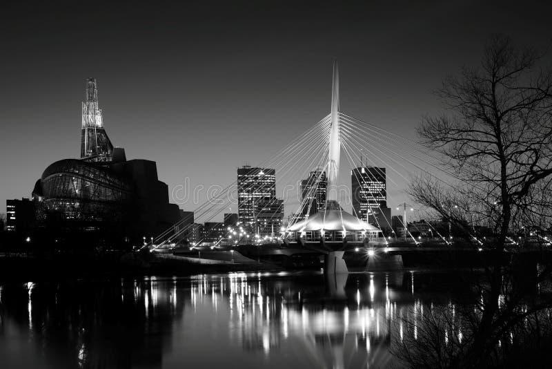 Orizzonte di Winnipeg immagini stock libere da diritti