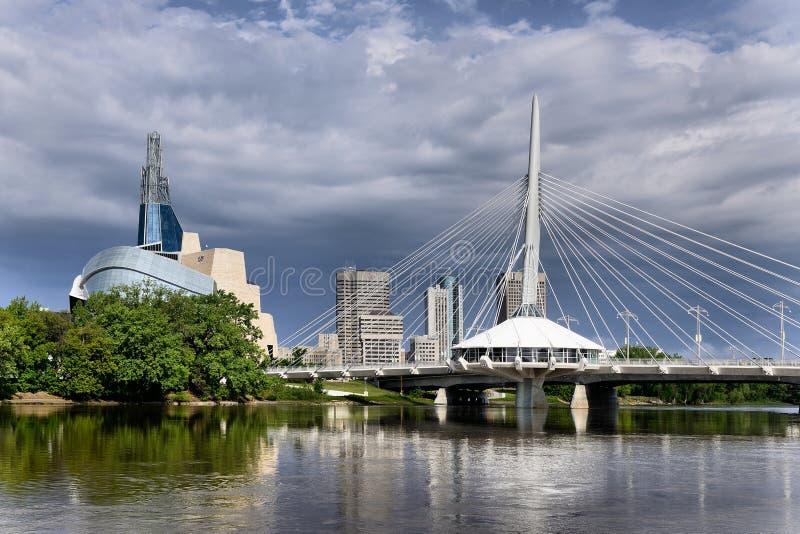 Orizzonte di Winnipeg fotografia stock libera da diritti